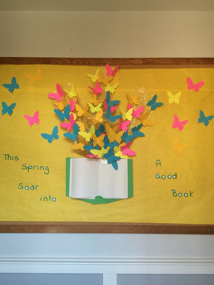 Spring Library bulletin board. | Spring Library display ...