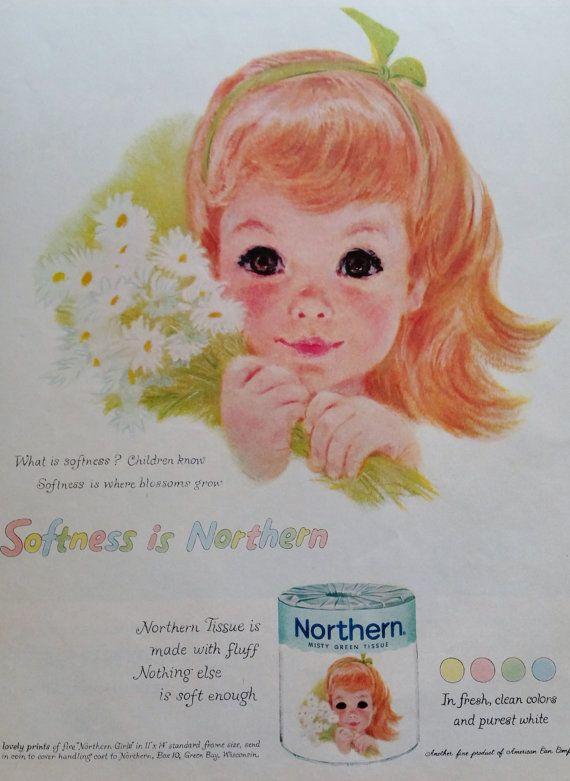 1959 Northern Girls Tissue Magazine Ad  Vintage Ads Print