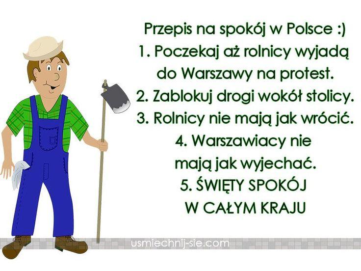 Przepis na spokój w Polsce