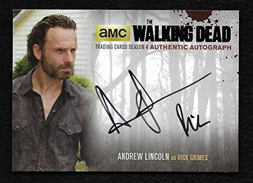 The Walking Dead Season 4 Part 2 BLACK FOIL Autograph AL4 Andrew Lincoln as Rick Grimes