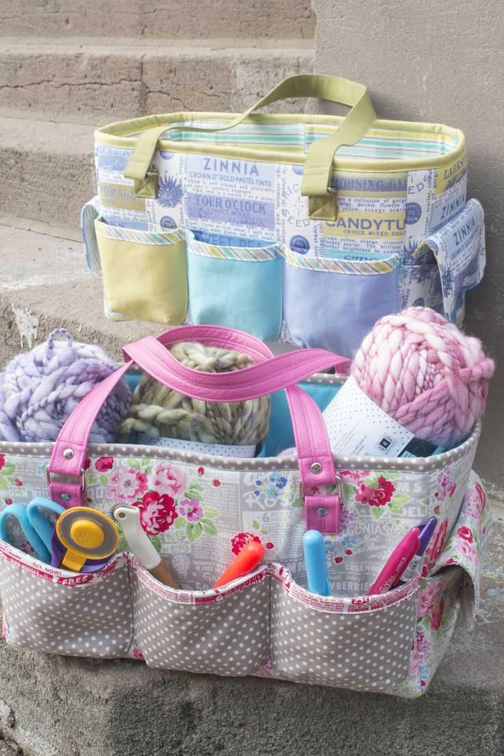 FREE Sew Sweetness Oslo Craft Bag sewing pattern, perfect for sewing supplies, knitting/crochet supplies, childrens' toys, and much more!