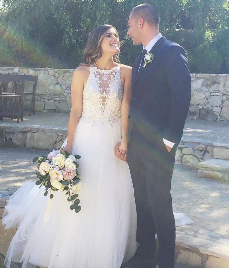 Cambria Joy wedding dress Instagram @cambriajoy