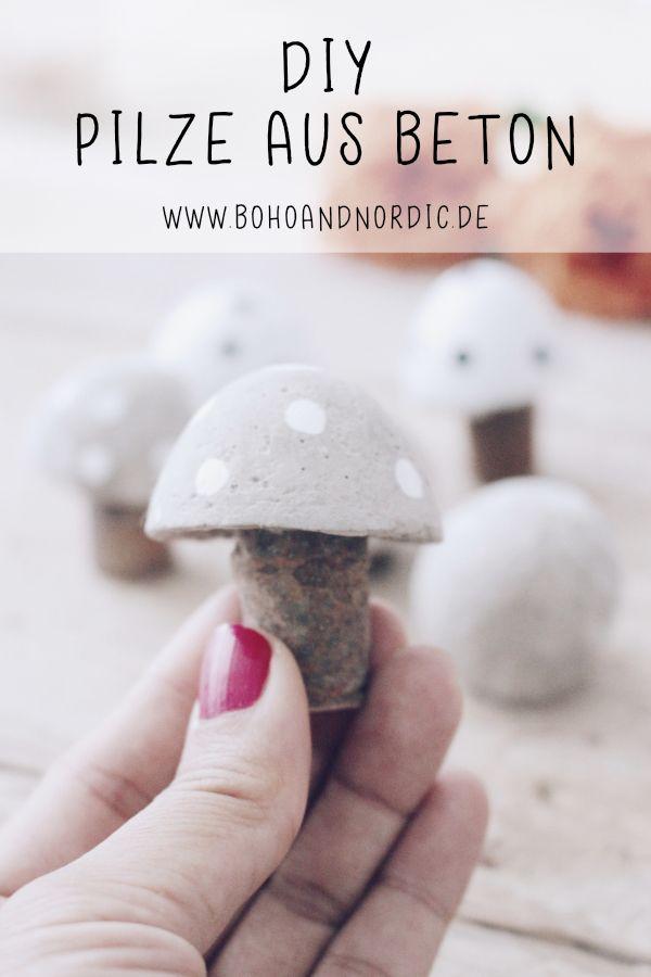 DIY Pilze aus Beton – Kreative und einfache Bastelidee mit Beton – bohoandnordic – DIY – Dekorieren – Basteln – Einrichten