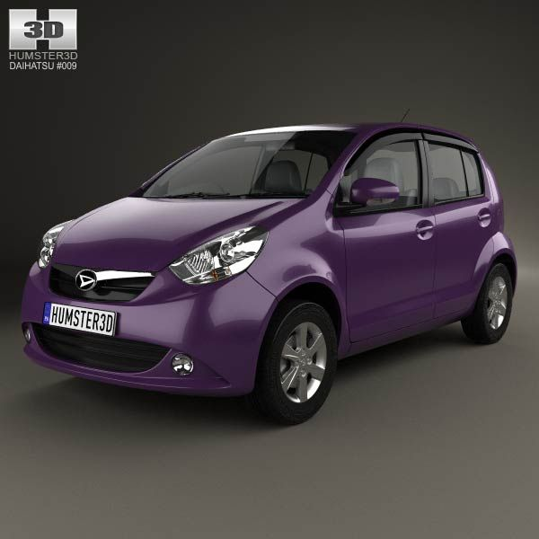 Daihatsu Sirion 2013 3d model from humster3d.com. Price: $75