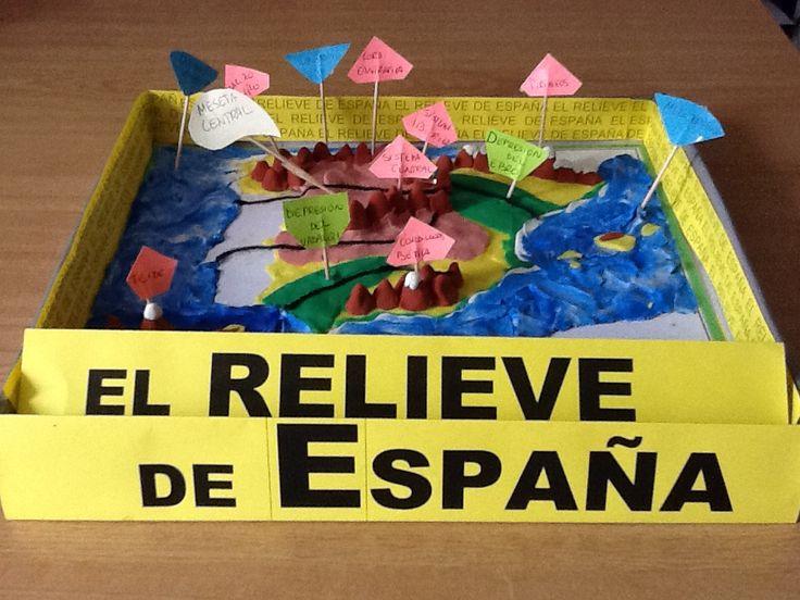 EL PROFESOR ISMAEL: RELIEVE DE ESPAÑA CON PLASTILINA