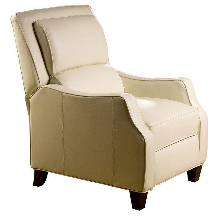 duncan bustleback reclining chair emerson cream leather discovered - Small Leather Recliners