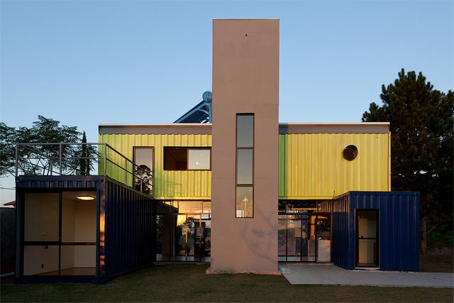 Shipping Container Homes: Multi Container Home - Casa Container, Danilo Corbas, - São Paulo, Brazil, http://homeinabox.blogspot.com.au/2013/03/multi-container-home-casa-container.html