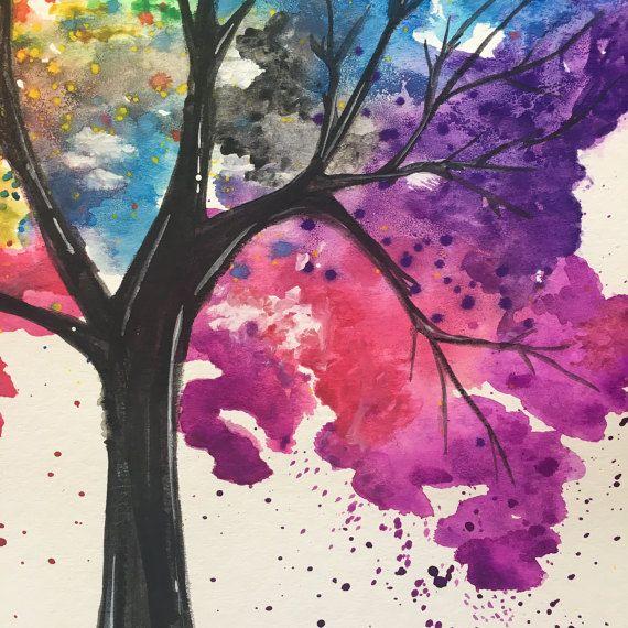 1000 id es sur le th me arbres en aquarelle sur pinterest - Peinture qui cache les defauts ...