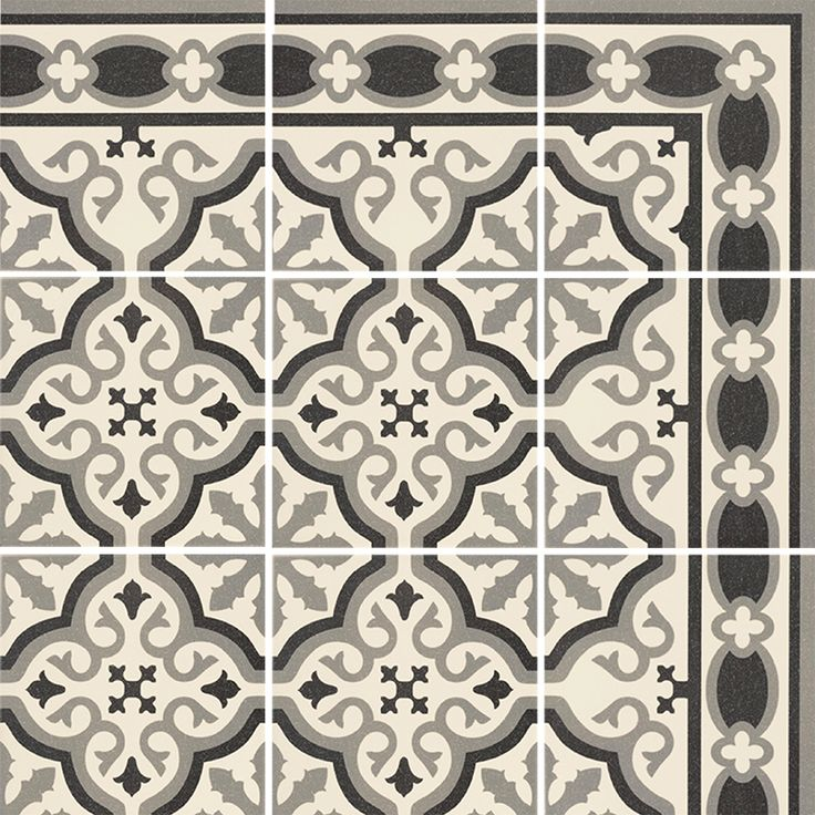 Carrelage imitation carreau ciment sol et mur blanc 20 x for Carrelage cuisine 20 x 20