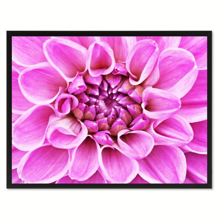 purple chrysanthemum flower framed canvas print home dcor wall art