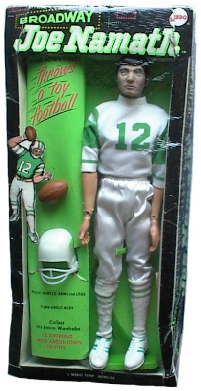 "1970 ""Broadway"" Joe Namath doll: Namath Dolls, Joe Dolls, 1970 Broadway, 1970 S, 1970S, Broadway Joe, Childhood, Celebrity Dolls, Joe Namath"