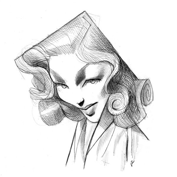 Lauren Bacall by J.Aldeguer