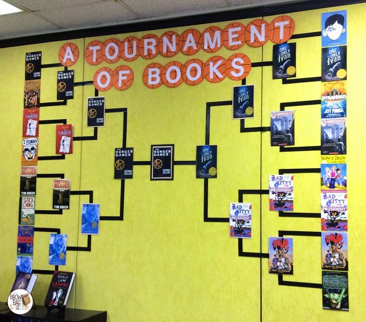 FREE resources to set-up and organize your own Book Madness: A Tournament of…