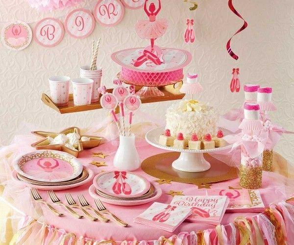 Rosa Kinderparty deko