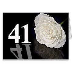 This Deals 41st Birthday Card with a classic white rose we are given they also recommend where is the best to buy