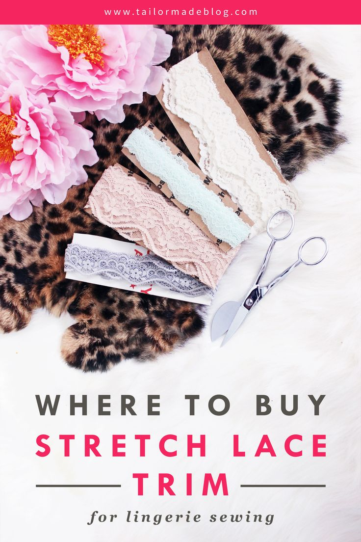 Where to Buy Narrow Elastic Lace Trim for Lingerie Making Online Panty Sewing Pantie Making Bra Making Sewing Underwear Buy Stretch lace Trim