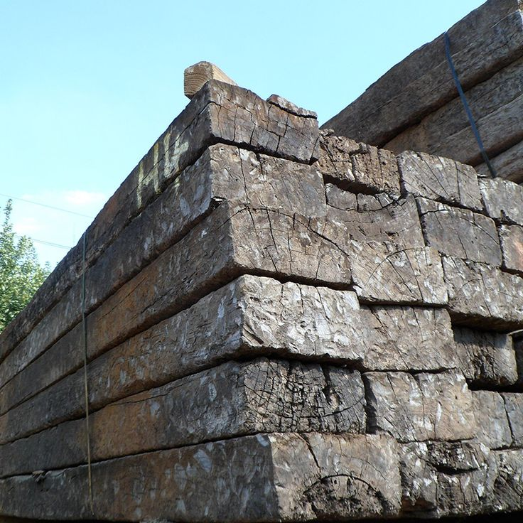 Reclaimed Untreated Railway Sleepers | Buy Untreated Reclaimed Tropical Hardwood Sleepers Online | UK Sleepers