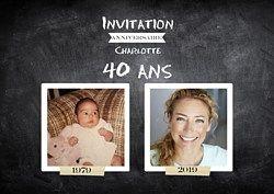 Invitation Anniversaire Avant-Après