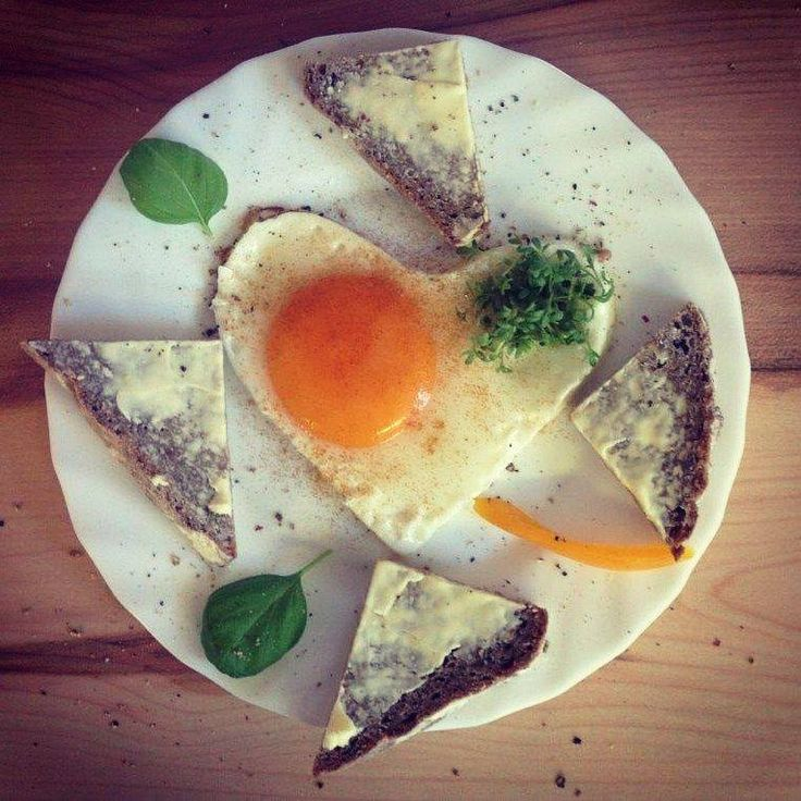 <3 egg, bread and butter #breakfast #healthy #love #heart