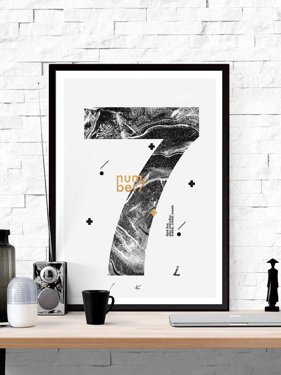 Number 7 printable minimalist scandinavian number 7 poster up to 50x70cm 18x24inches printable numbersprintable wall artnumber