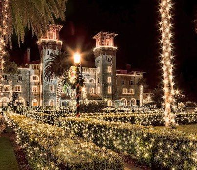 St. Augustine  Nights of Lights Starts the weekend before Thanksgiving to January 31 every year!  It's beautiful!