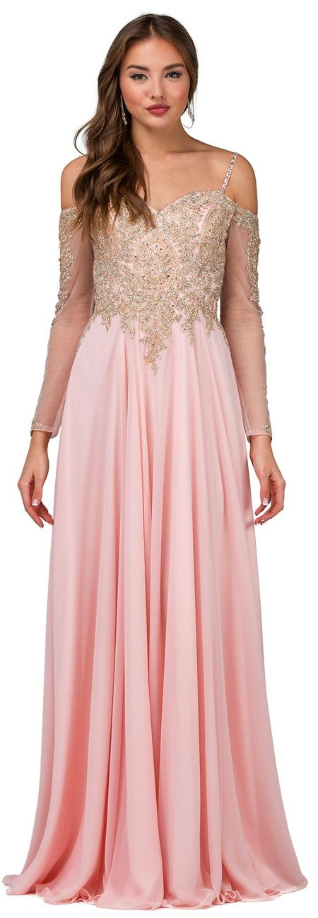Prom Party Evening Dresses under $200 by DANCING QUEEN<BR>aqn2422<BR>Off shoulder long sleeve illusion sweetheart bodice with a full sheer overlay floor length skirt.