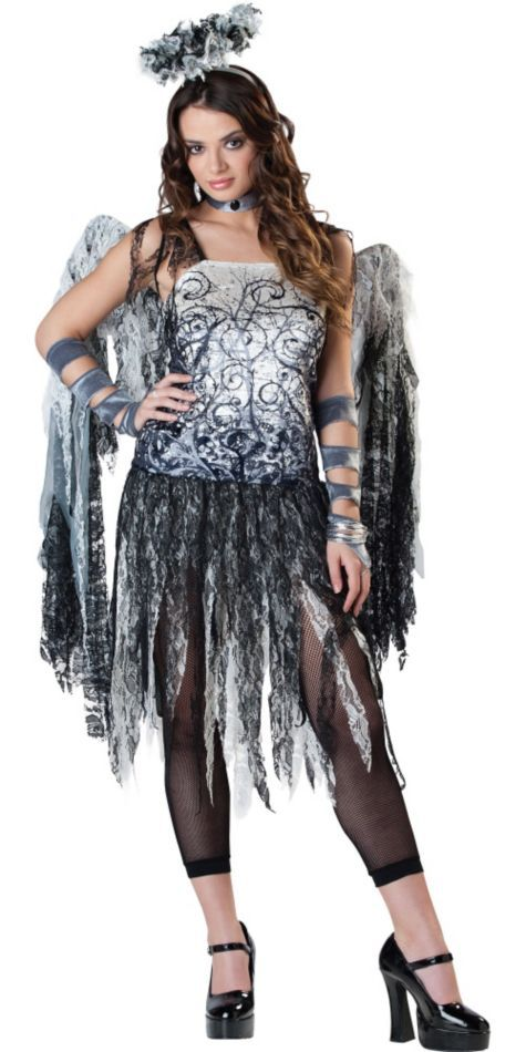 Teen Girls Dark Angel Costume - Party City me and my mom are trying to make something like this costume for me to wear on halloween