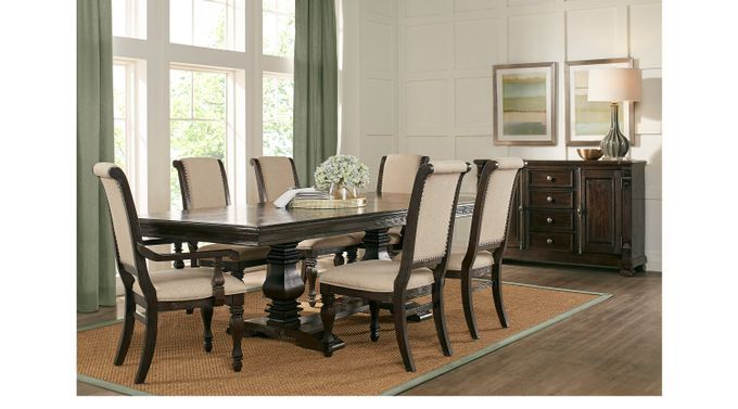 Dining Room Sets Rooms To Go San Luis Oak 7 Pc Rectangle Dining Room 4221604p Dining Room Sets Round Dining Room Rectangle Dining Table