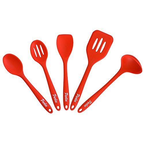 Customer Favorite 5 Piece Kitchen Utensil Set 100 Food Grade Silicone Bpa Free Fda Roved Lightweight