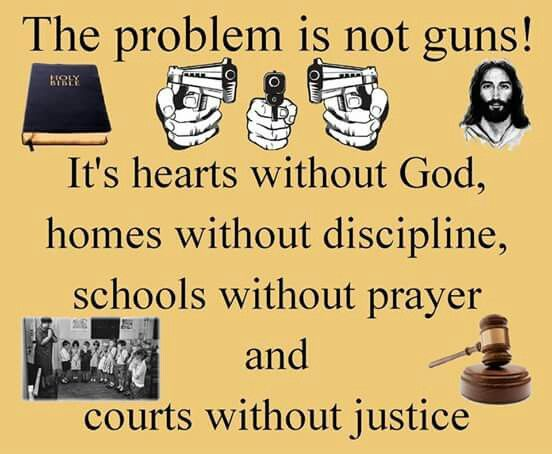It's more often religious people that shoot up places though because of their religion...
