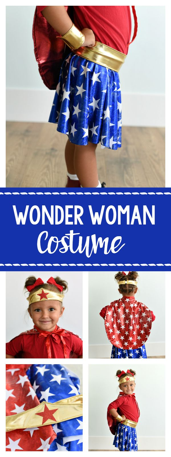 How to Make a Wonder Woman Costume for Kids - Crazy Little Projects