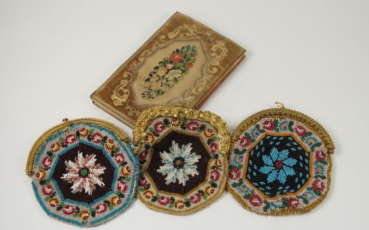 19th Century Embroidered Note Book Aide Memoir Fine Needlework Velvet English Inscribed 1868 This is a charming piece from Queen Victoria's reign.