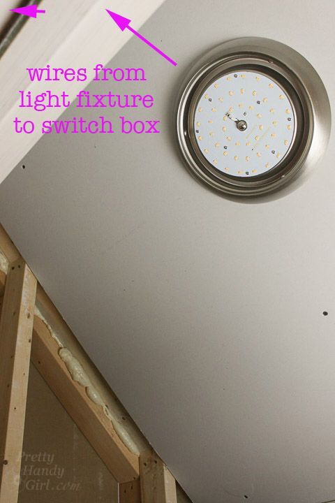 Have you ever wanted to replace a pull chain light with a standard light fixture and a switch? If so, I have a tutorial for you on How to Add a Switch for a Light Fixture! A while ago my sons and I wa