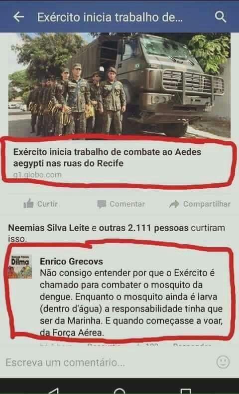 Exército combate a dengue