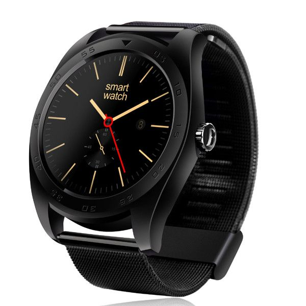 New K89 Smart Watch 1.22inch IPS Round Screen Smartwatch Heart Rate Monitor Bluetooth Watch for iphone IOS Android Smartphones