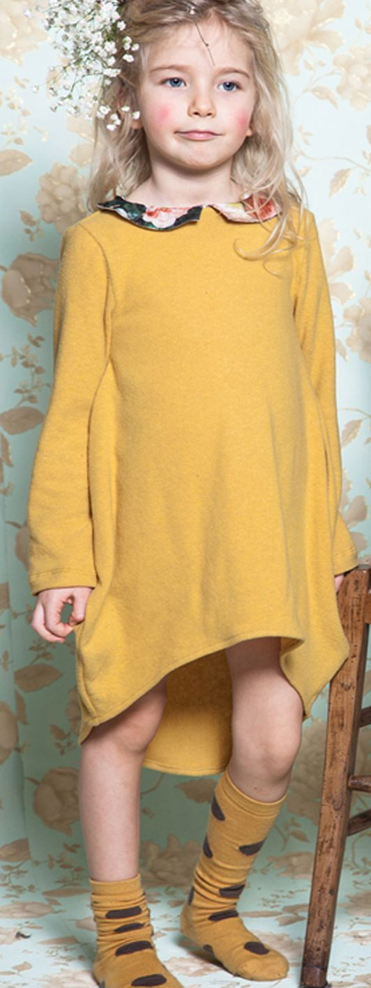 MUSTARD YELLOW #fallcolour #detail #dress #collection #kid #FW2015 #CucuLab  Shop at www.cuculab.it