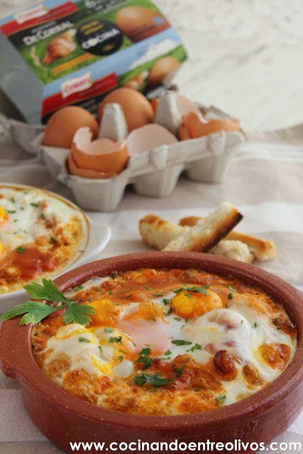 Cocinando entre Olivos: Huevos a la flamenca. Receta paso a paso para celebrar el Día del huevo