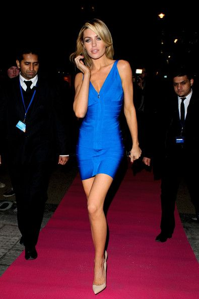 GLAMOROUS - Abbey Clancy in Herve Leger