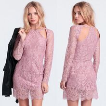 2015 new design long sleeve ladies lace dresses, sprin summer western party cocktail dress for women Best Seller follow this link http://shopingayo.space