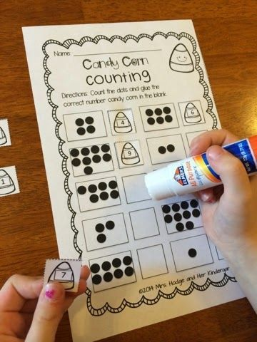 candy corn counting preschool halloweenhalloween activitieskid - Preschool Halloween Activities
