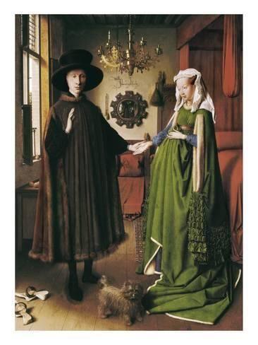 El Retrato de Giovanni Arnolfini y su esposa es un cuadro del pintor flamenco Jan van Eyck; fechado en 1434, representa al rico mercader Giovanni Arnolfini y a su esposa Giovanna Cenami, que se establecieron y prosperaron en la ciudad de Brujas (hoy Bélgica), entre 1420 y 1472.