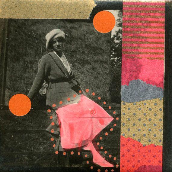 Fluorescerend oranje kunst abstracte Washi Tape door NaomiVonaArt