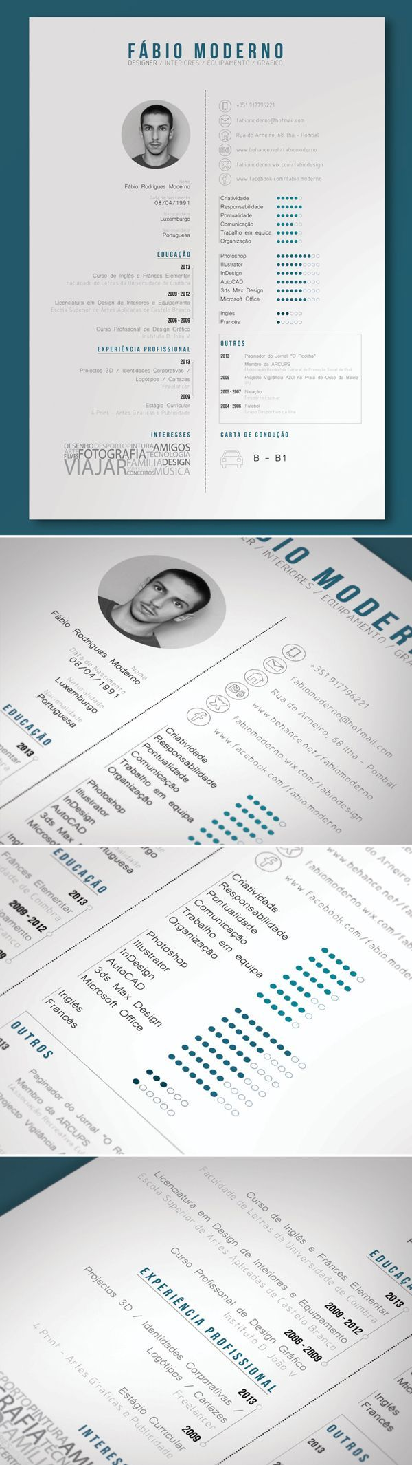 Best Resum Design Images On   Creative Cv Creative