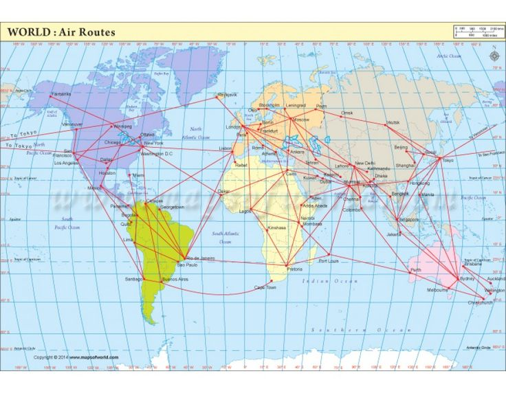 Buy Map Of Major Air Route Of World Buy Maps - World maps online