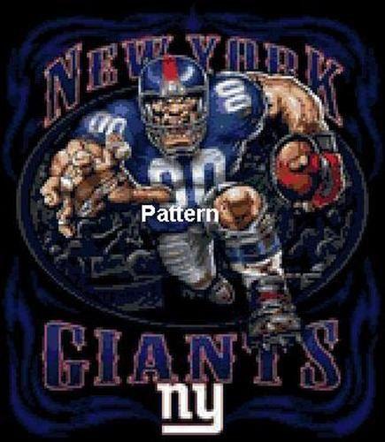 New York Giants. Cross Stitch Pattern. PDF Files. by ExclusiveXPatterns on Etsy https://www.etsy.com/listing/193416662/new-york-giants-cross-stitch-pattern-pdf