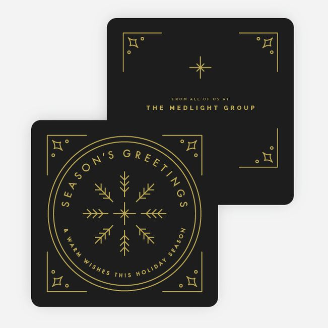 Classic Snowflake Corporate Holiday Cards from Paper Culture
