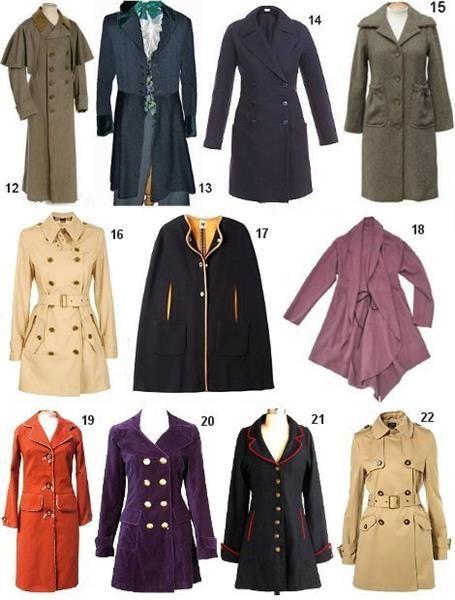 Каталог моделей французского женского пальто