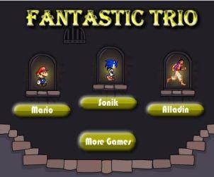 Juegos de Aladin, Mario y Sonic