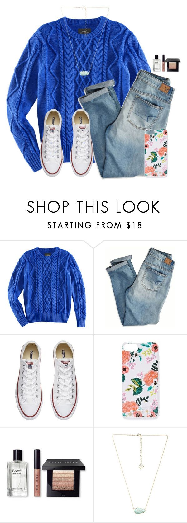 """~flowers are blooming~"" by victoriaann34 ❤ liked on Polyvore featuring H&M, American Eagle Outfitters, Converse, Rifle Paper Co, Bobbi Brown Cosmetics and Kendra Scott"