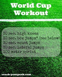 Soccer drill inspired workout #pinoftheday